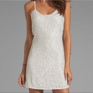 Parker Dresses - Parker white leather sequin cocktail dress